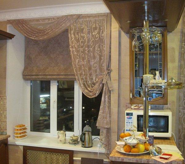 Шторы в кухню 07